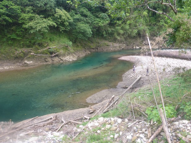 減水進む七川ダム